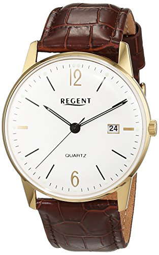 Regent Herren Armbanduhr Analog Quarz Leder 11100264