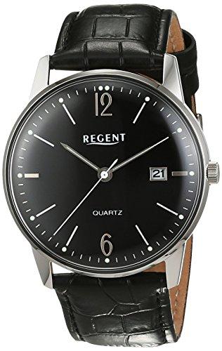 Regent Herren Armbanduhr Analog Quarz Leder 11110729