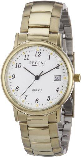 Regent Herren Armbanduhr XL Analog Edelstahl beschichtet 11140117