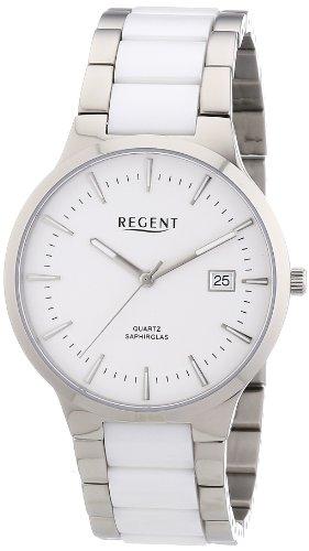 Regent Herren Armbanduhr XL Analog Quarz verschiedene Materialien 11090291