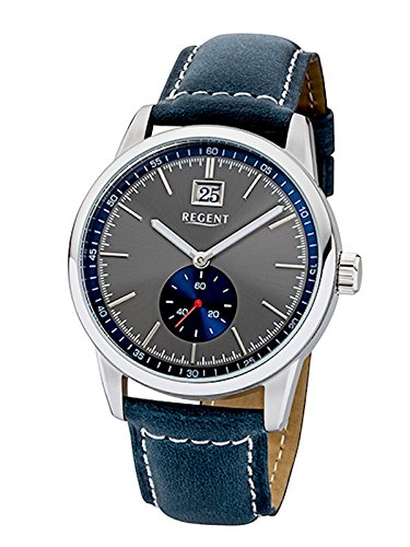 Regent Uhr Herren Edelstahl Armbanduhr Modell UM 1605 mit Grossdatum