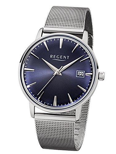 Regent Uhr Herren Edelstahl Armbanduhr Modell BA 338