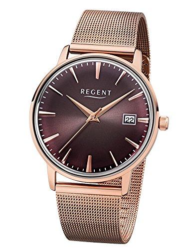 Regent Uhr Herren Edelstahl Armbanduhr Modell BA 343