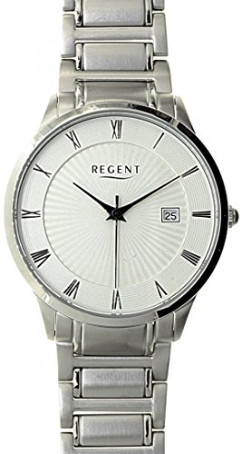 REGENT klassische Uhr fuer Herren ultra slim vergoldet 1673 45 91