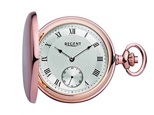 Regent mechanische Taschenuhr mit Sprungdeckel rose 31874 inkl Gravur