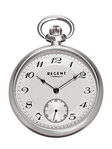 Regent Taschenuhr Mechanisch Silber Kleine Sekunde P86