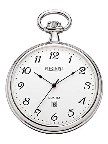 Regent Taschenuhr Quarz Silber P80