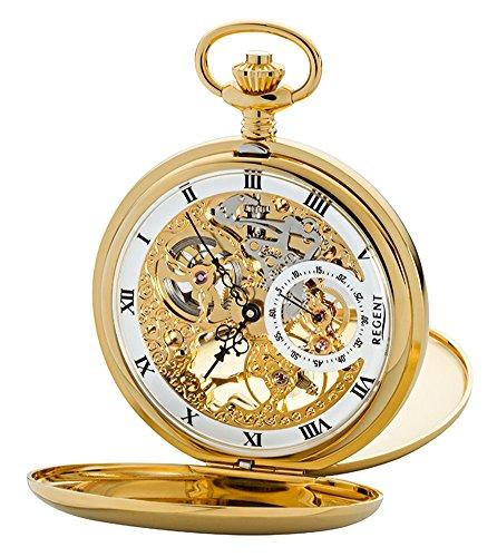 Regent Unisex Armbanduhr Analog Handaufzug One Size gold