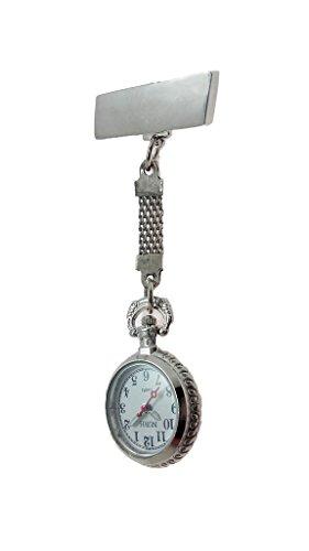 nurh Stahl Silber Krankenschwester Uhr Bewegung und Bateria Japanisch 1 Qualitaet 3 Jahre Garantie Arbeiten mit f Theodora