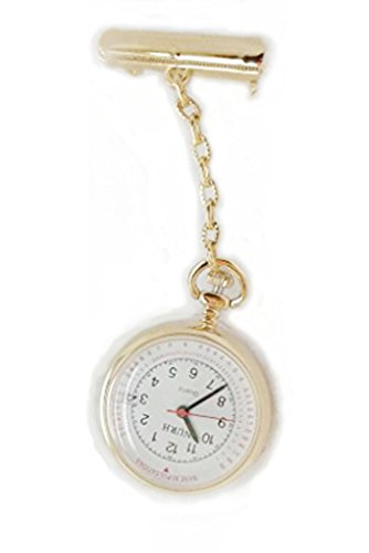 nurh Stahl Gold Krankenschwester Uhr Bewegung und Bateria Japanisch Lederbeschichtung Gravur Ohne Kosten sein lassen kann Nachricht an Verkaeufer