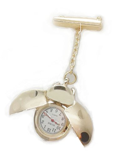 NURH Watch nurse Lady bug gilded golden steel THE PRODUCT SENT FROM SPAIN OF THE SELLER CAN BE RECORDED INCLUDED IN THE PRICE