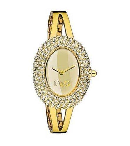D G Dolce Gabbana Damen Armbanduhr MUSIC LDY IPG STONES GOLD DIAL BRC DW0277