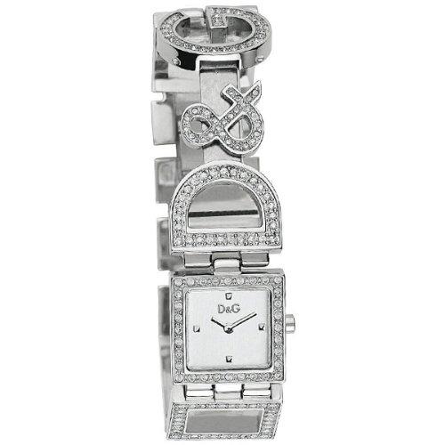 D G DW0031 Damen Armbanduhr 045J699 Analog silber Armband Stahl Silber