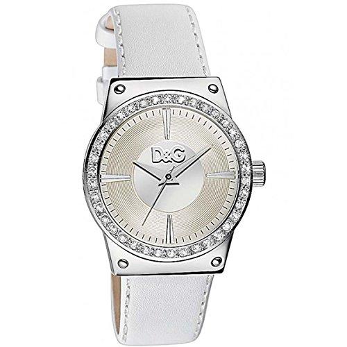 D G Watch DW0524 weissem Leder Dolce Gabbana Sundance