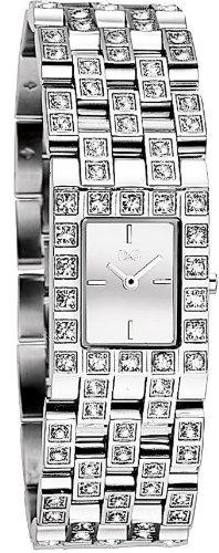 D G DW0743 Damen Armbanduhr 045J699 Analog silber Armband Stahl Silber