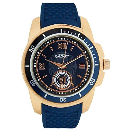 Uhren Calgary Mazzini Midnight Blue Quarz Blau und goldenen Zifferblatt