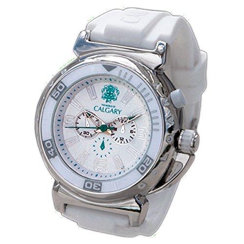 Uhren Calgary Riomaggiore White Sportuhren Damen Weisses Band aus Silikon Zifferblatt