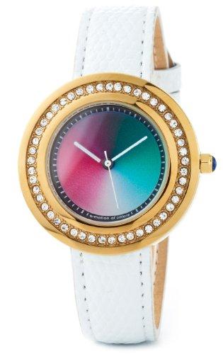 Rainbow e motion of color Damen Armbanduhr Passionata gold gamma Analog Leder PA48G WL ga