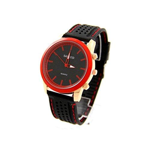 Armbanduhr mit Silikon schwarz SANEESI 929