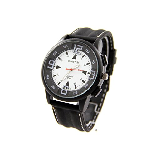 Armbanduhr mit Silikon schwarz SANEESI 783