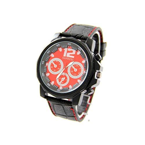 Armbanduhr mit Silikon schwarz SANEESI 726