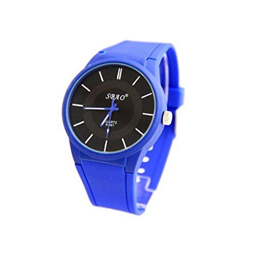Armbanduhr Silikon Armband blau sbao 825