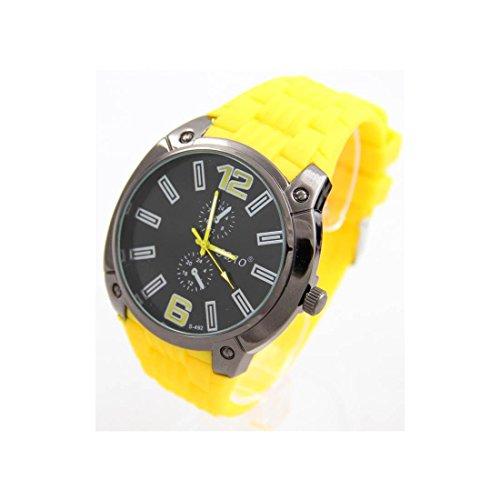 Armbanduhr Silikon Armband Gelb sbao 2631