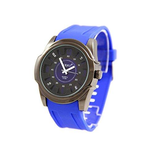 Armbanduhr Silikon Blau originelle sbao 2775