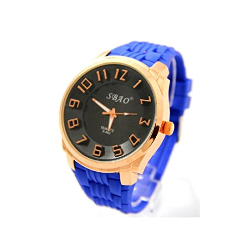Armbanduhr Silikon Blau sbao 2112
