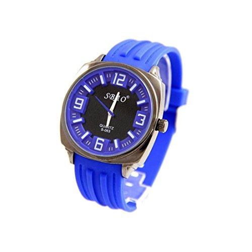 Armbanduhr Silikon Farbe Blau sbao 395