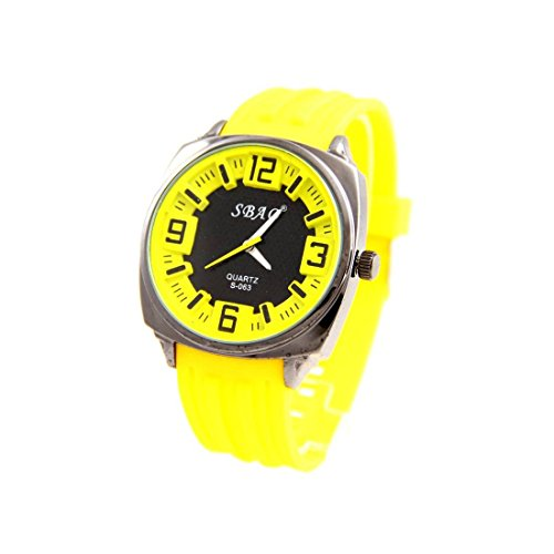 Armbanduhr Silikon Farbe gelb sbao 420