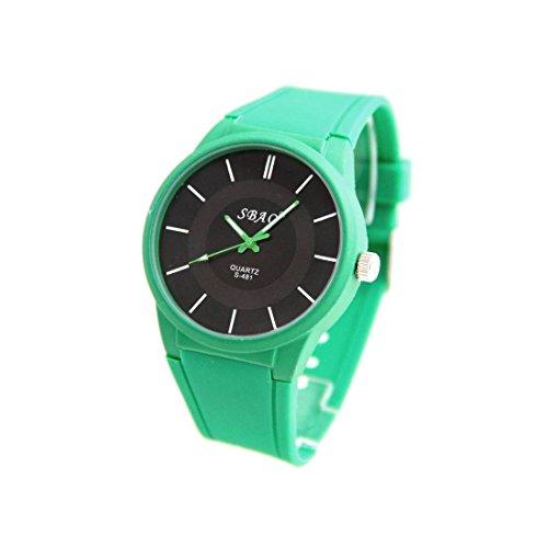 Armbanduhr Silikon Farbe gruen sbao 824