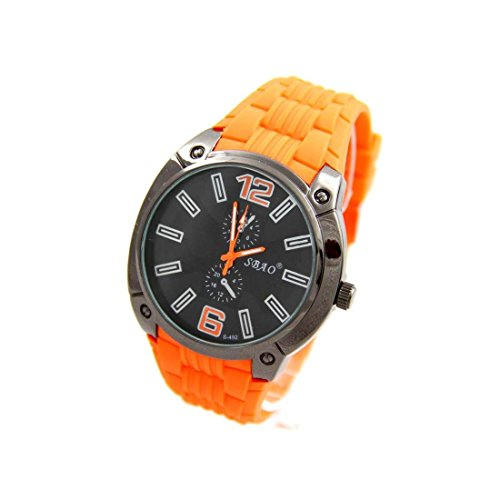 Armbanduhr Silikon Farbe orange sbao 2632