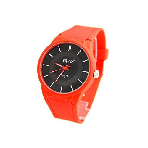 Armbanduhr Silikon Farbe rot sbao 811