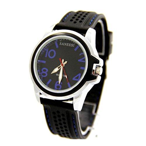 Armbanduhr Silikon Farbe schwarz SANEESI 1667