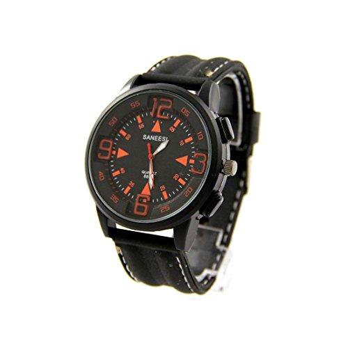 Armbanduhr Silikon Farbe schwarz SANEESI 827