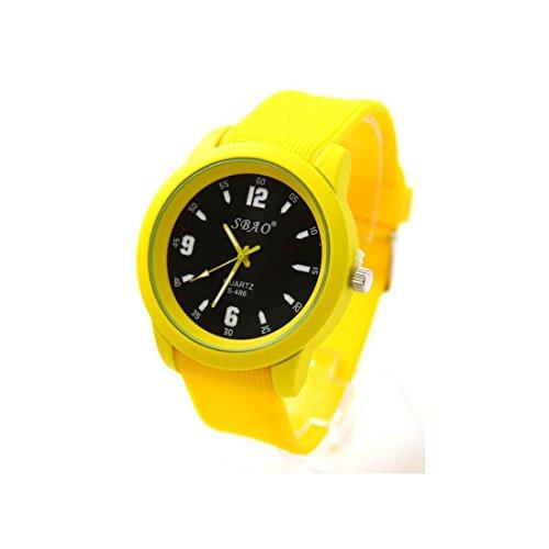 Armbanduhr Silikon in Gelb sbao 1860