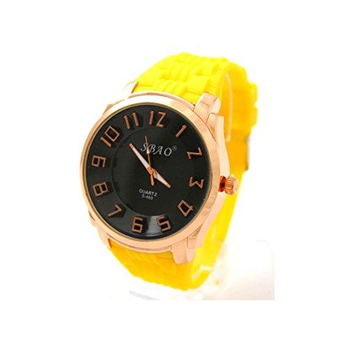Armbanduhr Silikon in Gelb sbao 2083