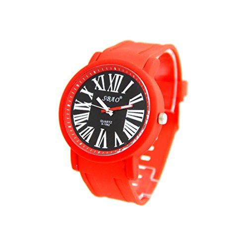 Armbanduhr Silikon rot Nicht Teuer sbao 487