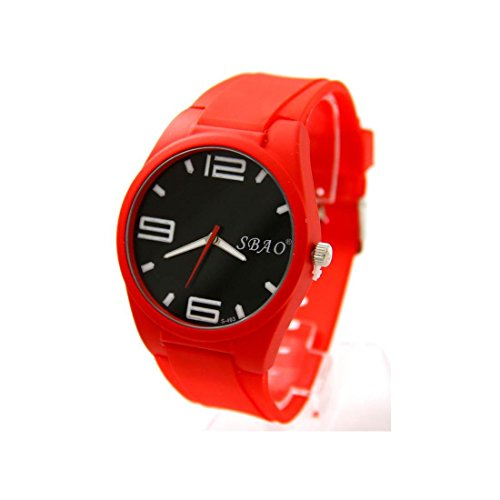 Armbanduhr Silikon rot Nicht Teuer sbao 2316