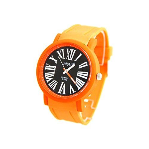 Armbanduhr Silikon orange nicht teuer sbao 859
