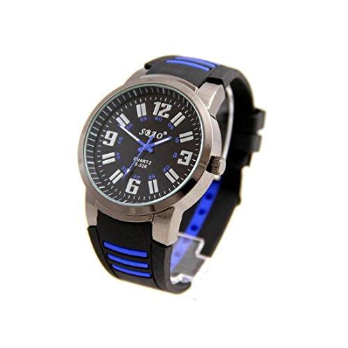 Armbanduhr Silikon schwarz Fantasie sbao sieht