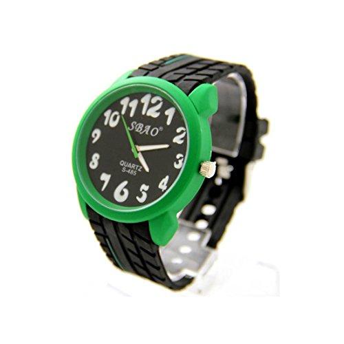 Armbanduhr Silikon schwarz sbao nicht teuer 1466