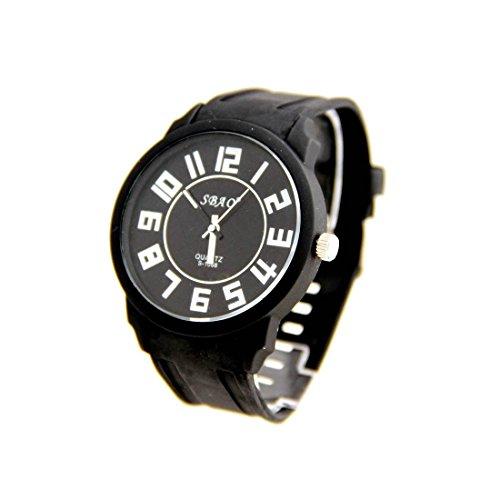 Armbanduhr Silikon schwarz nicht teuer sbao 2854