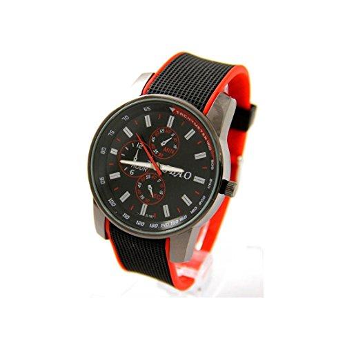 Armbanduhr Silikon schwarz zu Preis unten sbao 2075