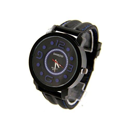 Armbanduhr mit Silikon schwarz SANEESI 1137