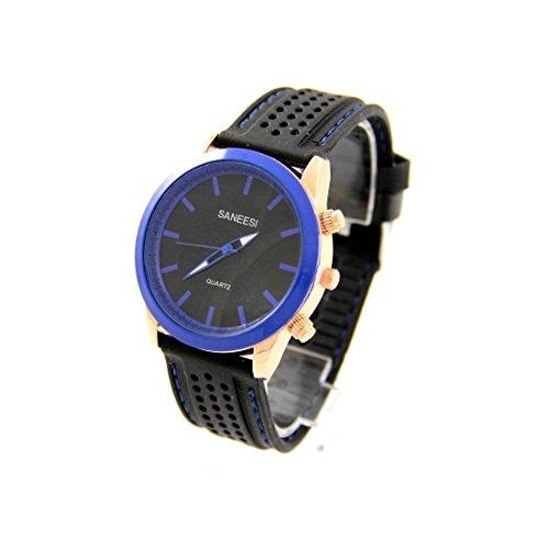 Armbanduhr Silikon schwarz SANEESI 293