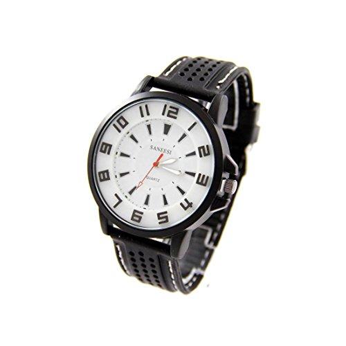 Armbanduhr Silikon schwarz SANEESI 667