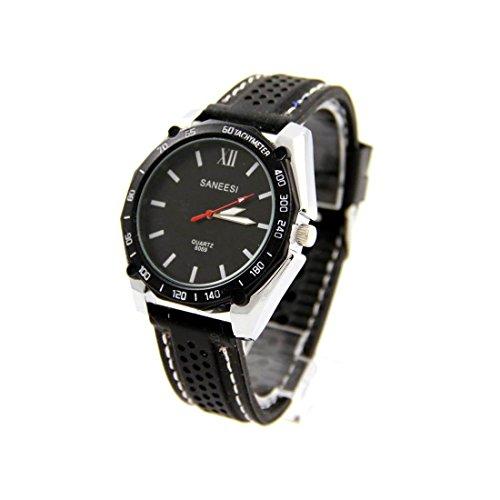 Armbanduhr Silikon schwarz SANEESI 734