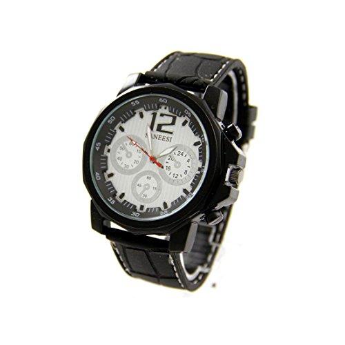 Armbanduhr Silikon in Schwarz SANEESI 848